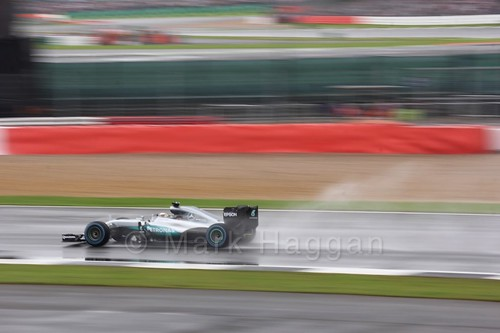 Lewis Hamilton in his Mercedes during the 2016 British Grand Prix