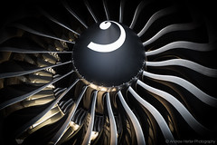 GE90 Inlet (Andrew Herter Photography) Tags: electric fan general cone aircraft engine commercial inlet blade boeing 777 turbine turbofan ge90 boeing100