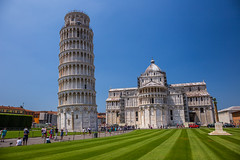 Leaning tower of Pisa, Italy (tvrdypavel) Tags: old city travel blue summer sky italy cloud holiday building tower art history tourism church monument architecture square landscape outdoors town italian europe european arch view place cathedral symbol outdoor basilica famous culture landmark icon it tourist medieval historic pisa tuscany dome marble piazza duomo toscana leaning renaissance dei slanted miracoli