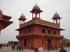 India. Mogul architecture at its best. The abandoned Mogul  or Mughal Fatehpur Sikri Palace near Agra. The beautfiul Diwan i Khas pavilion. (denisbin) Tags: indian palace moghul fatepursikri fatepursikripalace fatehpursikri mogul agra diwanikas redsandstone