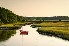 Meander (bprice0715) Tags: canon canoneos5dmarkiii canon5dmarkiii landscapephotography landscape nature naturephotography boat dory red green capecod goldenhour water morning travel beautiful beauty beautyinnature