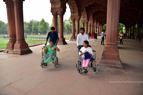 Accessible Tour of Red Fort, New Delhi: A view from inside the Red Fort.