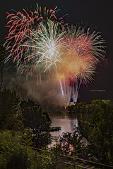Toronto Fireworks Grand Finale (Chad E Mason) Tags: fireworks pyro pyrotechnics pyrotecnico fire works display fourth july american usa independence day celebration patriot patriotic west virginia toronto ohio railroad tracks rail railway foliage night grand finale