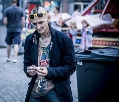 Punk's not dead! (Saul_Good) Tags: paultyronethomas anarchy ankh bin cigarette clash fair fun glasses mohican punk rings roll ska spliff street sun tone two up wheely yellow rock skin head badges