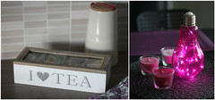 Some new kitchen decoration :) (Attolrahc) Tags: canoneos60d canon eos 60d canonef50mmf14usm indoor lowlight home homedecor homedecoration homedesign kitchen lamp pink violet tea teabox dof