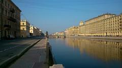 Fontanka river (alexyv) Tags:  building  reflection   fontanka river  water  city  stpetersburg  russia  bridge  road