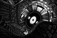 Going up or down (PeterSundberg66 former PeterSundberg65) Tags: staircase stairs up down dublin ireland city pub black white pictures pic watch blackandwhite monochrome ngc