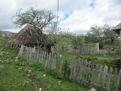 Fences and thatched hut, farm at Vidikovac, Uvac Nature Reserve, Serbia (Paul McClure DC) Tags: uvac naturereserve serbia srbija zlatibor druinie vidikovac sjenica balkans may2016 scenery