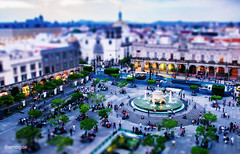 """Mini"" Plaza Guadalajara (Amagox) Tags: guadalajara jalisco mexico city citylife cityscape fountain square tiltshift tilt shift people trees micro mini zoomout miniature horizontal downtown centro personas ciudad miniatura plaza fuente day dia"