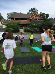 Energy Krazed partnering with the Patachou Foundation! We had the kids from Horizon Camp exercising and working up a sweat along the Monon! We all had a blast!
