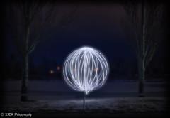 Winter Orb (KRHphotos) Tags: snow winter nightphotography paintingwithlight lightpainting