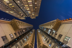 Rise Ever Higher #3 (Tim van Zundert) Tags: hong kong island sheung wan china architecture buildings flats towers night evening long exposure sky lights sony a7r voigtlander 21mm ultron