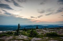 Cadillac Mountain Sunset (The Burgys) Tags: landscape acadia nationalpark acadianationalpark maine mountdesertisland mdi sunset color rocks granite trees sony a99 sonya700 zeiss zeiss1680 summer cadillacmountain