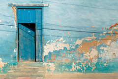Untitled (Simone Della Fornace) Tags: cuba cuban trinidad travel door blue outdoor sony a7rii urban house architecture building wooden wall distressed paint texture