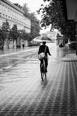(Tom Plevnik) Tags: bnw blackandwhite candid city flickr human ljubljana monochrome nikon outdoor public people places photography rain street urban streetphotography