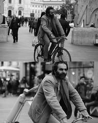 [La Mia Citt][Pedala] (Urca) Tags: 8915 milano italia 2016 bicicletta pedalare ciclicsta ritrattostradale portrait bike bicyclenikondigitale mir biancoenero bn bw blackandwhite