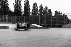 Warm september evening, Amsterdam 2016. (Livesey's) Tags: skate lookslikefilm film mastin amsterdam olympia bw chill person pan f panf 35mm 50mm canon evening 5dmarkiii 5d