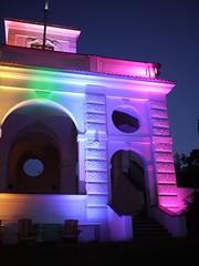 Prague Pride 2016 (Institute of Lighting Design Prague) Tags: usembassy isd praguepride pride week instituteoflightingdesign institutsvtelnhodesignu gloriette