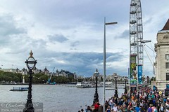The South Bank was heaving! (CarolAnn Photos) Tags: 2016 countyhall eosm london september southbank thames boats river water