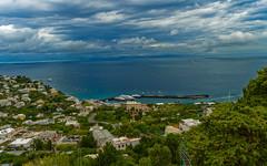 Blue 'n' green (bighands@yahoo.com) Tags: europe italy nikon1855mm landscape blue amalficoast capri nikon travel green it d3200 clouds sea scenic view nikkor
