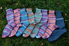 2016.10.19. stepsukkia x8 2754m (villanne123) Tags: 2016 socks stepsocks sukat knitting anklesocks nilkkasukat neulottu neulotut tulentallojatsukat austermannstep villanne forsale