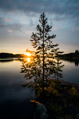 End of summer (Toni Ahvenainen) Tags: touit2812 smallaperture longexposure lake sunset pinetree reflection evening zeiss