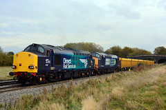 direct rail services tractors 37069 and 37604 work 6U77 mountsorrel to crewe basford hall at stenson bubble a unusual sight for 37's to work this flow (I.Wright Photography over 2 million views thanks) Tags: dirrct rail services tractors 37069 37604 work 6u77 mountsorrel crewe basford hall stenson bubble unusual sight for 37s this flow direct
