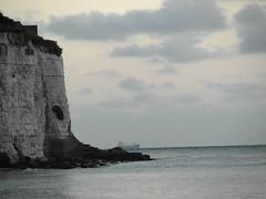 Early riser (ray 96 blade (retired)) Tags: whitecliffs stonebay broadstairs earlywalk ghostlyship horizon seaside shipping