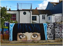 Street Level (donbyatt) Tags: brighton streetart spraycans walls urban graffiti eyes mazcan