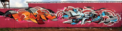 EPOK - SLED - OCT2016 (SledOne!) Tags: graffiti art graffitiart gallery wall ironlak illustration painting red pink orange bristol blue streetart mtn94 mtn loopcolours spraypaint spraypaintart ukgraffiti ask