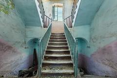pastellero (Andy Schwetz - I LOVE DECAY) Tags: urbex staircase abandoned villa farm decay pastel andyschwetz lostplaces beautyindecay forgotten italia italy oputn opuszczony abandonn abbandonata abandonado verfall anwesen symmetrie