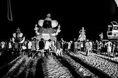 Shadows & Adieu | Ganesh Visarjan series | Chennai Foreshore estate 2016 (vjisin) Tags: ganpathibappa ganpativisarjan festival prayers marina idol immersion tradition chennaiweekendclickers seashore cwc mychennai chennai india asia nikon nikonofficial indianstreetphotography documentary nikond3200 composition streetphotography street ngc cwc552 eye idol ganeshidol immersion blackandwhite monochrome outdoor ocean water wave shore landscape coast sea