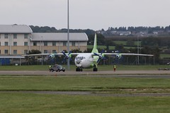 UR-KDM. (aitch tee) Tags: cardiffairport transport aircraft antonov an12 cavokair urkdm cwlegff maesawyrcaerdydd walesuk