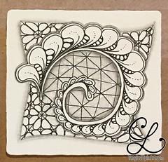 Getting Ready (Cris @ TangledUpInArt) Tags: zentangle nzeppel diva challenge flux renaissance zendala