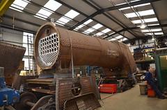 Boiler Shop at Ropley (davids pix) Tags: 34105 swanage west country pacific bulleid boiler repair workshop british railways preserved steam locomotive 2016 21102016