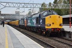 37069 and 37604 Stafford 24/10/2016 (Brad Joyce 37) Tags: 37069 37604 6u77 stafford staffordshire class37 tractor drs freight locomotive diesel doubleheader train