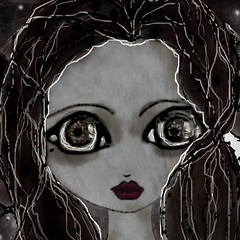 ZOMBIE QUEEN (Cabinet of Old Secret Loves) Tags: zombie queen chess black white brown far away eyes original annabelle pastoraldreams thewoodbeyondtheworld spooky october spirit ghost girl