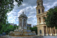 At Place Saint Sulpice (gr8fulted54) Tags: tonemapped hdr photomatix on1 nikon d7100 paris