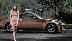 The Z Car (swong95765) Tags: car nissan z sportscar woman female lady art