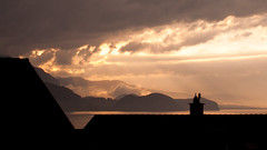 Thunersee (k335w) Tags: thunersee leissigen nightfall landscape rooftops weather storm