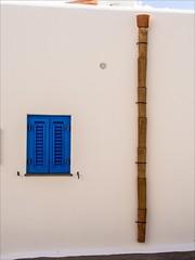 PA024273 Sicily Italy Lipari (Dave Curtis) Tags: 2013 em5 europe omd olympus sicily italy lipari shutters window blue white wallbamboo drain pipe