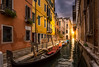 Light at the end of the canal (nocjakob) Tags: old venice sunset italy sun sunlight house colour sunrise boat town canal gondola venezia venedig venis