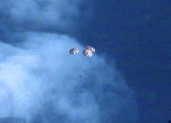 Orion Under its Parachutes