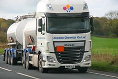 DAF XF Tanker Airedale Chemical Co Ltd PN14 TLU (SR Photos Torksey) Tags: road truck transport lorry commercial vehicle tanker airedale chemical daf xf haulage hgv