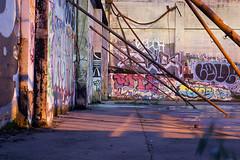 Under The Bars (Dreshad Williams) Tags: urban art architecture oregon portland typography graffiti design graphics downtown photoaday lettering rundown