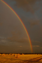 Rainbox over Bouvines (Dave2638) Tags: storm france field dark landscape rainbow skies scenic hay bouvines