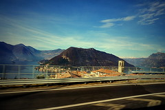 Lago d'Iseo (Мaistora) Tags: road trip travel blue trees sky italy lake snow motion blur mountains alps colour green castle history church window nature glass sunshine mobile architecture clouds lens landscape zoo day village sony horizon hill sunny hills verona valley villa lakeshore kit colourful alpha process z1 postprocess villas android app dolomites edit iseo defocus lagodiseo ilce maistora passingbye photomate 1650mm a6000 xperia picsay yahoo:yourpictures=weather sel1650pz