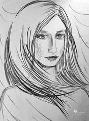 Yu (Yulia Correal Romn) Tags: people portraits chica arte gente drawing illustrations personas retratos persons dibujo pintar jovenes ragazza ilustraciones dobujar