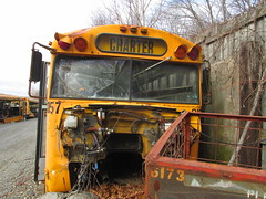National School Bus Service #8157 (3) (ThoseGuys119) Tags: old newyork rotting junk shed storage historic schoolbus damaged retired scrap conventional defunct laidlaw thomasbuilt firststudent fordb700 nationalschoolbusserviceinc nochassis