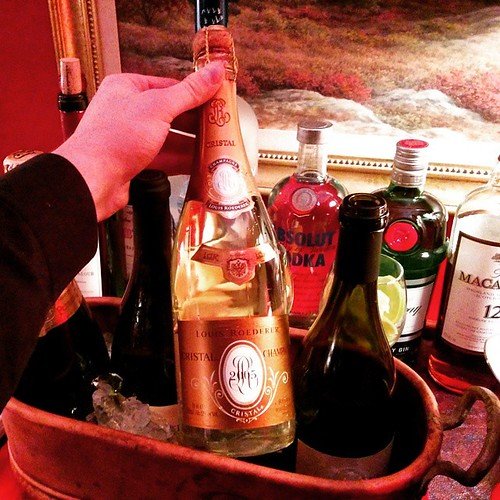 Only the #finest ! #Cristal #champagne #cocktailsnyc #cateringnyc